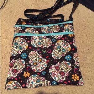 Handbags - NWT Sugar Skull Quilted Purse